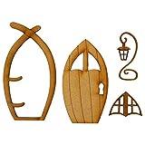Dadaorou 3D DIY Türdekoration Holztür Craft Kit, Beliebteste Wichteltür, Feentür, Spielhausdekorationstür Basteltür 3D-Deko zur Selbstmontage Elfentür Wichteltür Set (One Size, Multicolor-3)
