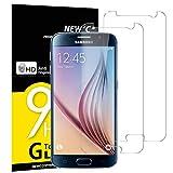 NEW'C 2 Stück, Schutzfolie Panzerglas für Samsung Galaxy S6, Frei von Kratzern, 9H Härte, HD Displayschutzfolie, 0.33mm Ultra-klar, Ultrabeständig
