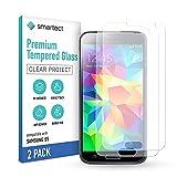 smartect Schutzglas kompatibel mit Samsung Galaxy S5 / S5 NEO [2 Stück] - Tempered Glass mit 9H Härte - Blasenfreie Schutzfolie - Anti-Kratzer Display