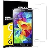 NEW'C 2 Stück, Schutzfolie Panzerglas für Samsung Galaxy S5 Mini, Frei von Kratzern, 9H Härte, HD Displayschutzfolie, 0.33mm Ultra-klar, Ultrabeständig
