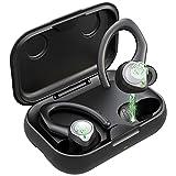 Bluetooth Kopfhörer Sport, Kopfhörer Kabellos Bluetooth 5.1 Kopfhörer in Ear mit Mikrofon, Bügel M/L Earbud Wireless Kopfhörer wasserdichte, Bass Ohrhörer USB C Noise Cancelling Headset Joggen L