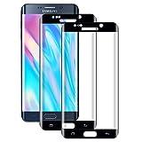WISMURHI[2 Stück] Schutzfolie für Galaxy S6 Edge Panzerglas, Anti-Bläschen, Anti-Kratzen, 9H Härte, 3D Curved Volle Deckung, HD Klar Panzerglasfolie für Galaxy S6 Edg