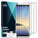 LϟK 3 Stück Schutzfolie für Samsung Galaxy Note 8 Folie Dünn - Blasenfrei Einfache Montage Rahmen Fingerabdruck-ID Hüllenfreundlich Ganzer Bildschirm HD-Klar Samsung Note 8 Display