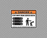 Metallschild Aluminium Warnschild Hinweisschild Gefahr Stay Away From Server Room Stromschild für Tor Geschäftsschild Vorsicht Warnschild Sicherheitsschild Sicherheitsschild H
