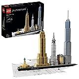 LEGO 21028 Architecture New York City, Skyline-Kollektion mit Freiheisstatue, Bausteine für Kinder und Erwachsene, B