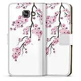 DeinDesign Klapphülle kompatibel mit Samsung Galaxy A5 Duos 2016 Handyhülle aus Kunst Leder weiß Flip Case Kirschblüten Jap
