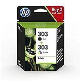 HP 3YM92AE 303 Multipack Original Druckerpatronen für HPENVYPhoto6230,7130,7830,Schwarz,Cyan,Magenta,Gelb,S