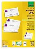 SIGEL DP839 Visitenkarten hochweiß, 150 Stück (15 Blatt), 85x55 mm, beidseitig bedruckbar und satiniert, 200 g - weitere Stück