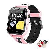 TORRYZA Kinder Smartwatch,Kind Uhr Telefon mit SOS Intelligente Touchscreen Spiel Kamera Voice Chat Wecker für Jungen Mädchen Student Geschenk(A2-Rosa)