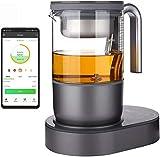 Qi Aerista Teebrüher | preisgekrönter Teebereiter | Smart Teeautomat | 9 automatische Brühprogramme | App | Tee | Kräutertee | Milchtee | kaltes Gebräu | Kickstarter finanziert | 220 V EU Steck