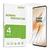 apiker [4 Stück] TPU Schutzfolie für Oneplus 8 Pro, Oneplus 8 Pro TPU Displayschutzfolie, blasenfrei, hohe Definition, hohe Empfindlichk