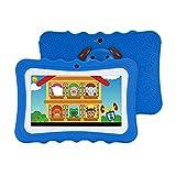 Dounan Tablette,Kinder Tablet 7 Zoll Bildschirm Dual Kamera Android Quad-Core WiFi Version Frühpädagogische Lernmaschine Geschenk für Kleink