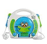 X4-TECH Bobby Joey Eule - Kinder CD-Player MP3 Karaoke Hörbücher 2 Mikrofone - inkl Netzteil + g