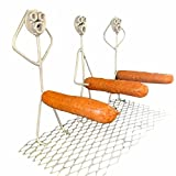 Eternitry Gegrillter Wurst-Rack, tragbarer Hot Dog Grill, Grill gegrillter Wurst Metal-Werkzeug, Outdoor-Grill-T