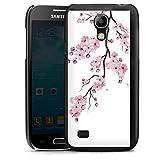 DeinDesign Hard Case kompatibel mit Samsung Galaxy S4 Mini Schutzhülle schwarz Smartphone Backcover Kirschblüten Jap