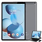 Tablet 10 Zoll 5G WiFi, Android 10 Tablet mit Tastatur, 4 GB RAM + 64 GB ROM / 128 GB, Octa-Core 1.6 Ghz, 6000 mAh, 1080P IPS, Dual Kameras, Bluetooth, Dual-Band WiFi V