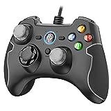 EasySMX PS3 Gamepad, PC Joystick für Spiele mit Kabel mit Dual-Vibration, Turbo und Fronttasten für Windows / PS3 / Android TV Box