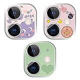 TIPOACIANNI8 3 x niedliche Kamera-Objektiv-Displayschutzfolien, Handy-Kamera-Schutz-Set für Jungen und Mädchen, 12