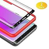 BANNIO für Panzerglas für Samsung Galaxy S8,[2 Stück] 3D Panzerglasfolie Schutzfolie für Samsung Galaxy S8 mit Positionierhilfe,9H Härte,Anti Rayures,Blasenfrei,Anti-Kratzen,Schw