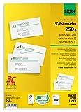 SIGEL LP800 Visitenkarten 3C, 100 Stück (10 Blatt), hochweiß, glatter Schnitt rundum, 250 g, 85x55 mm - weitere Stück