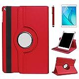 Hülle für New iPad 8th Gen (2020) / 7th Generation (2019) 10.2'' Tablet,360 Grad drehbarer Ständer Smart Schutzhülle,Auto Schlaf/Wach Case,Mit Stylus Pen,Bildschirm Film (Red)