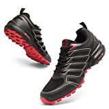 Herren Traillaufschuhe Turnschuhe Schuhe Atmungsaktiv Wandern Trekking Arch Support Outdoor Sneakers, rot, 39 2/3 EU