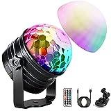 Discokugel LED, 2-In-1 Musikgesteuert Discolicht Partylicht mit Stimmungslichtmodus, 7 Farbe Timer und dimmbarer Funktion, Party Lampe ür Kinder, Familientreffen, W