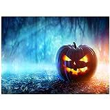 YEESAM ART Schreibwaren Halloween Kürbis Laterne Atmosphäre des Horrors Malen nach Zahlen 40,6 x 50,8 cm DIY Malset für Zuhause Wanddekoration (Kürbis 1, ohne Rahmen)