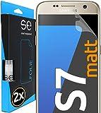 smart engineered [2 Stück] Entspiegelte 3D Schutzfolien kompatibel mit Samsung Galaxy S7, hüllenfreundliche Matte Displayschutz-Folie, Schutz vor Schmutz und Kratzern, kein Schutzg