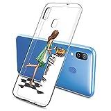 Suhctup Kompatibel mit Samsung Galaxy S5 Mini / G800 Hülle - Silikon Transparent Weiche Durchsichtig Dünn Handyhülle, Slim Stoßfest Soft TPU Back Cover Handytasche [ Mädchen Serie ]