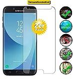 Smartphone-Equipment [2er Pack] Panzerglas für Samsung Galaxy J7 2017 Echt-Hartglas 9H, Displayschutz Panzerfolie Glasfolie Schutzfolie Glas Folie Display S