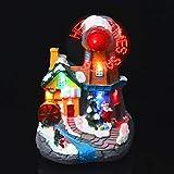 Garneck Beleuchtetes Weihnachtshaus Miniatur Windmühle Haus: LED Harz Weihnachtsdorf Häuser OHNE Akku Desktop Weihnachtsdorf Feengarten Puppenhaus Mikrolandschaft Party Festival Dek