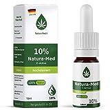 Natura Med10% C-Active Natur Öl Tropfen 10ml |100% reines Naturprodukt•vegan•EU zertifizierter Anbau•hochdosiert und rein – made in DE