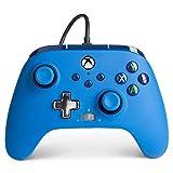 Verbesserter kabelgebundener PowerA-Controller für Xbox– Blue Gamepad, kabelgebundener Videospiel-Controller, Gaming-Controller, Xbox Series X S