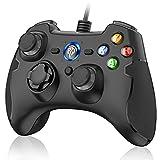PC Controller, EasySMX Controller Joystick für Spiele mit Kabel mit Dual-Vibration, Turbo und Fronttasten für Windows/ PS3 / Android TV Box
