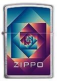 ZIPPO – Sturmfeuerzeug, Zippo 'Patterns', Color Image, Chrome Brushed, nachfüllbar, in hochwertiger Geschenkbox