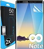 smart engineered [2 Stück] 3D Schutzfolien kompatibel mit Samsung Galaxy Note 8, hüllenfreundliche transparente HD Displayschutz-Folie, Schutz vor Schmutz und Kratzern, kein Schutzg