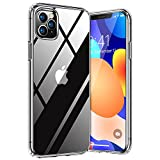 TORRAS Diamond Series für iPhone 11 Pro Hülle (5.8') (Vergilbungsfrei Extrem Transparent) Starke Stoßfestigkeit Dünn Handyhülle iPhone 11 Pro Hard PC Back und Soft Silikon Bumper Schutzhülle (Klar)