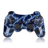 SFQRYP. Gaming Gamepad Bluetooth Controller Wireless Doppelschock mit Ladegerät Kabel Joystick Joypad (Color : Blue)