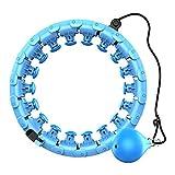 The Gifts Outlet Hula-Hoop-Reifen für Erwachsene/Kinder | Profi-Gewichtsverlust-Trainingsgerät | Gewichtete Hoola-Reifen mit Sandkg-Trainingsball für Erwachsene/Kinder und Kinder (blau)