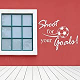 Fliegender Fußball Wandaufkleber Englisch Alphabet Home Aufkleber Aufkleber Kinderzimmer Dekoration Wandtattoos A4 42x56