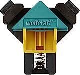 wolfcraft ES 22 Eckenspanner 3051000 Set – 2 Winkelspanner zur Fixierung von Brettern und Rahmen im 90° Winkel – Eckspanner für Brettstärken von 10-22