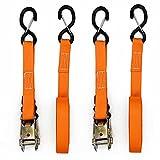 Ratschenspanngurte Doppelhaken Seilspanner mit Versicherung Ratsche Spannschnalle Spanngurte Ratsche 2er Pack 4,5