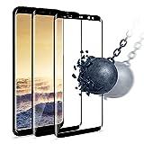 wsky Panzerglas Schutzfolie (2 Stück) für Samsung Galaxy S8, Ultra Transparenter, Wasserbeständige Panzerglasfolie, Samsung S8 Glatt verwenden Display
