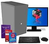 PC Komplettsystem mit Windows 10 Pro, Intel Quad Core i5, 8 GB RAM 512 GB SSD 24 Zoll TFT Monitor, Maus, Tastatur, Bluetooth, WLAN, & GRATIS BullGuard & 12 Monate Garantie - NL4PCTW (Generalüberholt)