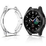 FITA [2 Stück/46MM] Schutzhülle Kompatibel mit Samsung Galaxy Watch 4 Classic 46MM Hülle,Weiche TPU Cover Case Keine Schutzfolie, Kratzfest Schutz Kompatibel mit Galaxy Watch 4 Classic Schutzhü