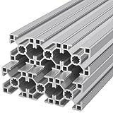 Ulber24- Aluprofil 30x30 Typ B Nut 8,6x600mm =3,60m Konstruktion Montage System 3030 Alu Schiene Stecksystem Vierkant Lager Wink