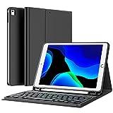 Earto Tastatur Hülle für iPad 9. Generation 2021, iPad 8 Gen Hülle mit Tastatur, Abnehmbar Kabellose Tastatur für iPad 7. Gen/Air 3. Gen/Pro 10,5, Deutsches QWERTZ-Layout, mit Pencil Halter, Schw
