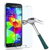 Smartphone Equipment [2er Pack] Panzerglas für Samsung Galaxy S5 Echt-Hartglas 9H, Glasfolie Schutzfolie Glas Folie Panzerfolie Display S