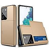 ZZKHFA Stoßfeste Schutzhülle für Samsung Galaxy S20 FE S21 S30 Note 20 Ultra 10 9 8 S10 5G S9 S8 Plus S7 Edge S20+ S21+ Hülle (Farbe: Gold, Material: Für S20 Plus)